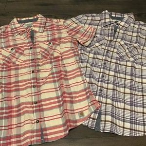 Two New Small Plaid Carhartt Shirts